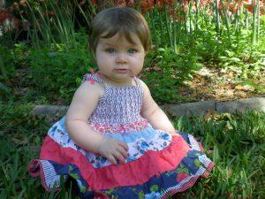In Nana's garden