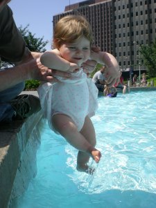 Dipping your feet in love park