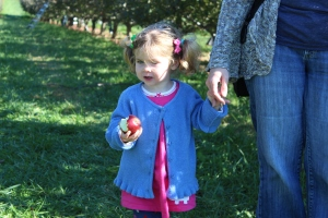 I call this: Lucy in the orchard with apple