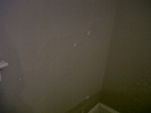 Last Sunday - notice all of the variations in this blurry photo are sift spots on the wall that when touched crackle like tissue paper